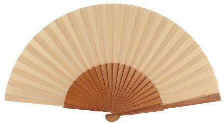 MISTRAL - Éventail noisette en bois de bouleau