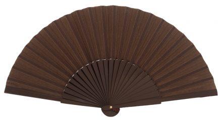 MISTRAL - Éventail brun en bois de bouleau