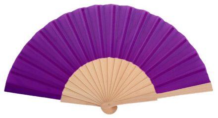 LIBECCIO - Éventail violet en bois naturel