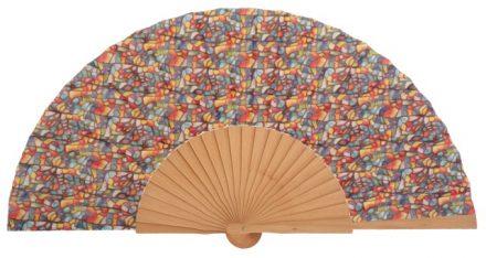 LOO - Éventail en bois multicolore