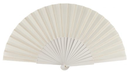 BORA - Éventail blanc en bois de bouleau