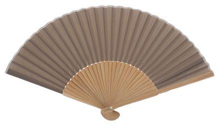 PONANT - Éventail noisette en bois de bambou